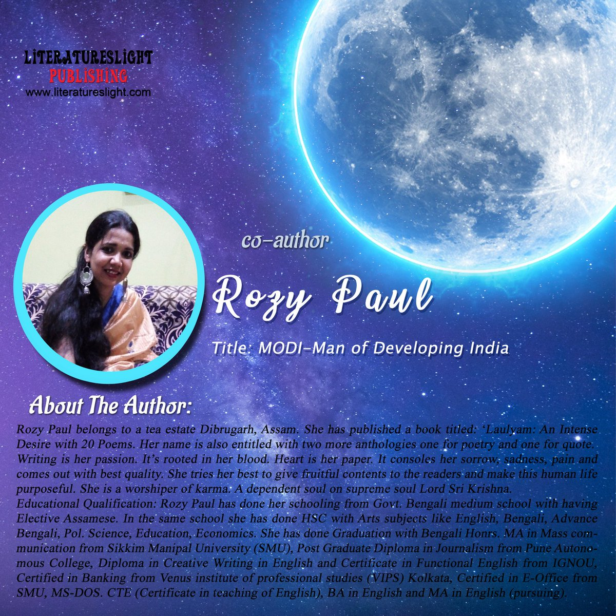 #literatureslight #poetryanthology #moonlight  Thank you for the contribution #RozyPaul #poetry #booklovers  #writeindia #newindianauthors #indianauthors #poetsofindia pic.twitter.com/e2qKwuo811
