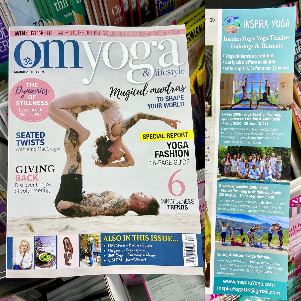 Check out our colourful advert in the March 2020 issue of @OmYogaMagazine, highlighting our upcoming 1-year (July 2020 - June 2021) and 3-week (September 2020) 200hr #YogaTeacherTraining and our Ashtanga #YogaRetreat in May 2020! ☺️🧘🏻♀️   #omyogamagazine #inspirayoga #inspirayogauk https://t.co/q6TYcZ0KbC