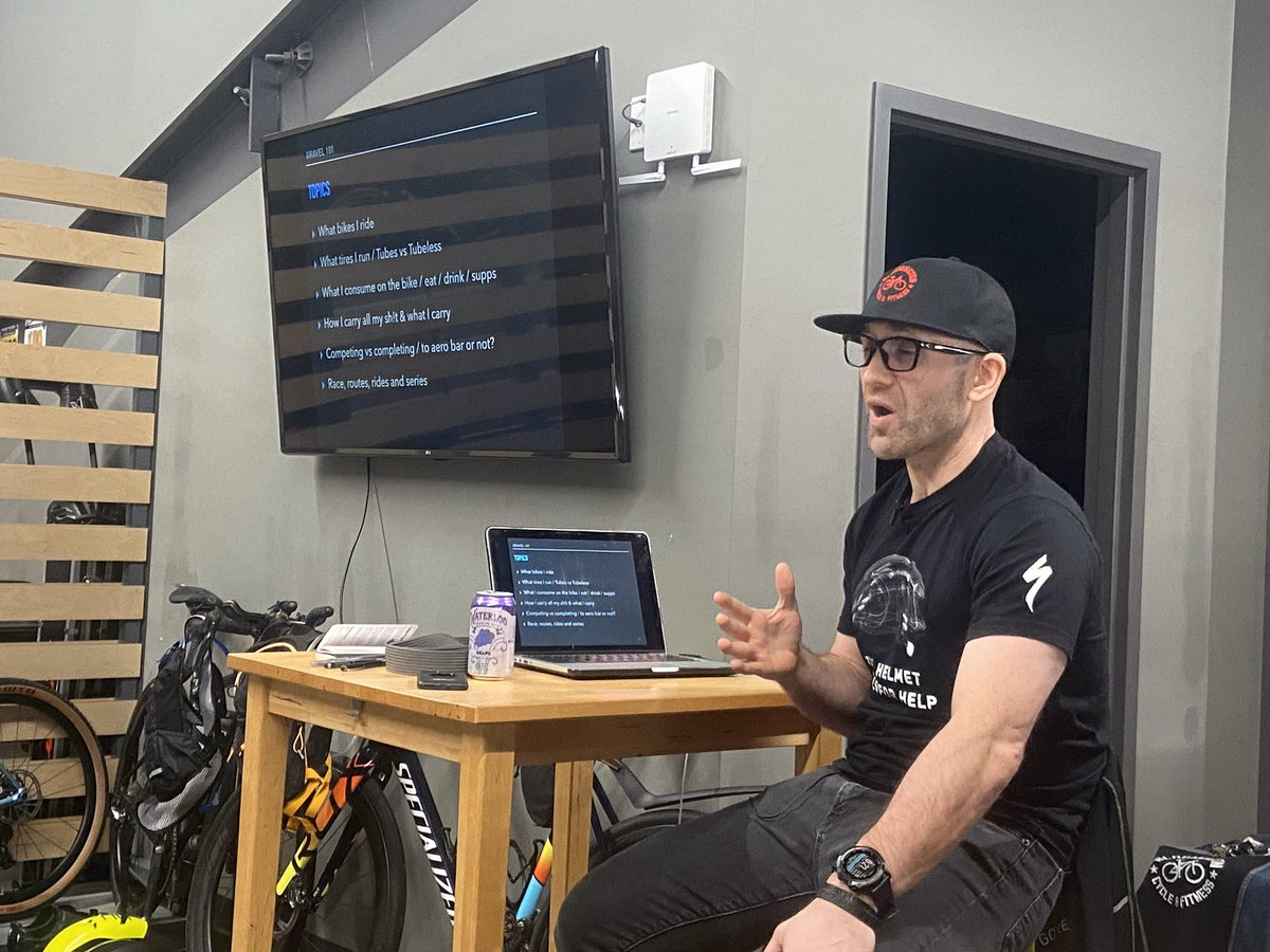 I had a blast sharing my passion for gravel riding/racing to 22+ peeps. Presentation: https://www.dropbox.com/s/uyx5hjgv1tpphxp/Gravel%20101.pdf?dl=0… hit me up if you have any questions. We'll do another condensed 101 session later in the spring & I have a 102 idea in the works #iamspecialized #gorewear #preparetoridepic.twitter.com/HYP4MWZscv
