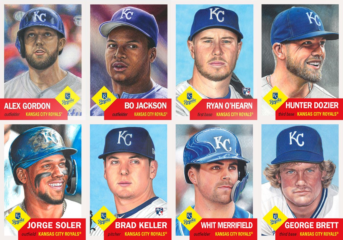 Updated team sets for the Kansas City Royals and Texas Rangers with their latest additions, George Brett and Mike Minor, respectively.  Kansas City Royals - 8 Texas Rangers - 7