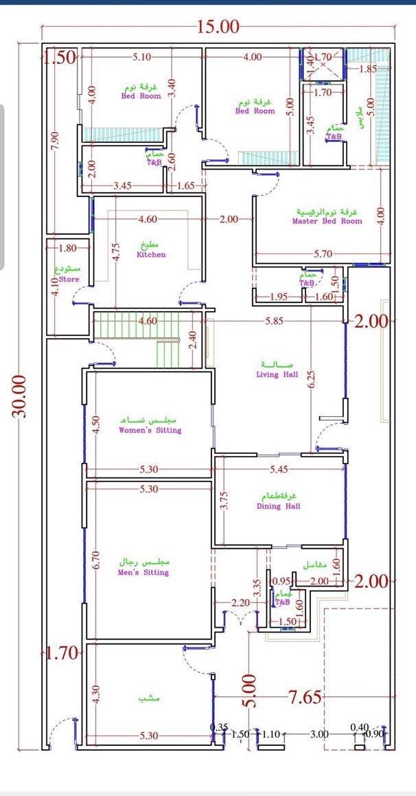 مخطط دور وشقتين مساحة 400 from pbs.twimg.com