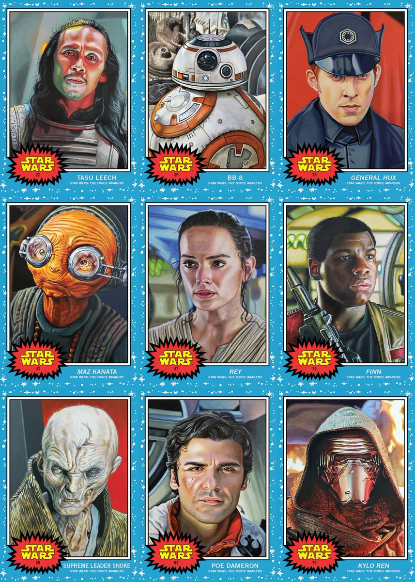 "Updated ""team"" sets for the #ToppsStarWarsLiving set with the latest additions of Kylo Ren and Kit Fisto.  Star Wars: The Force Awakens - 9 (plus a mislabeled Salacious B. Crumb) Star Wars: The Clone Wars - 6"