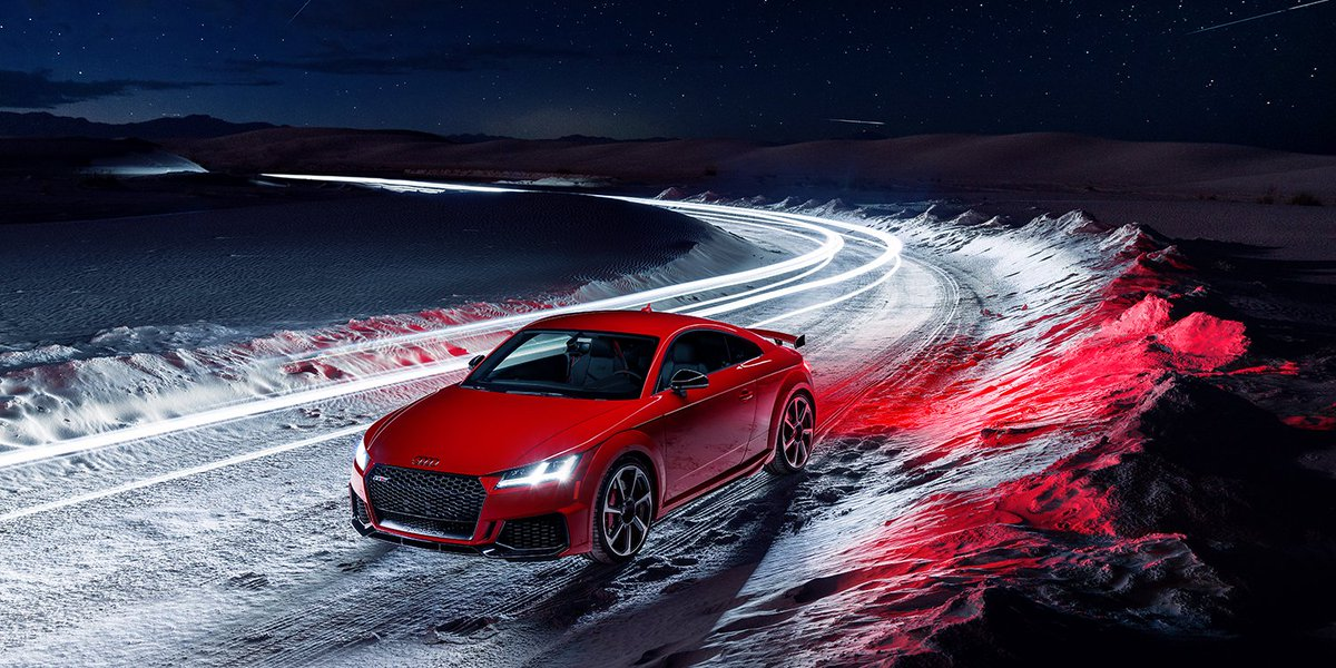 Outrun the speed of light.  #AudiTTRS #SpeedGoals