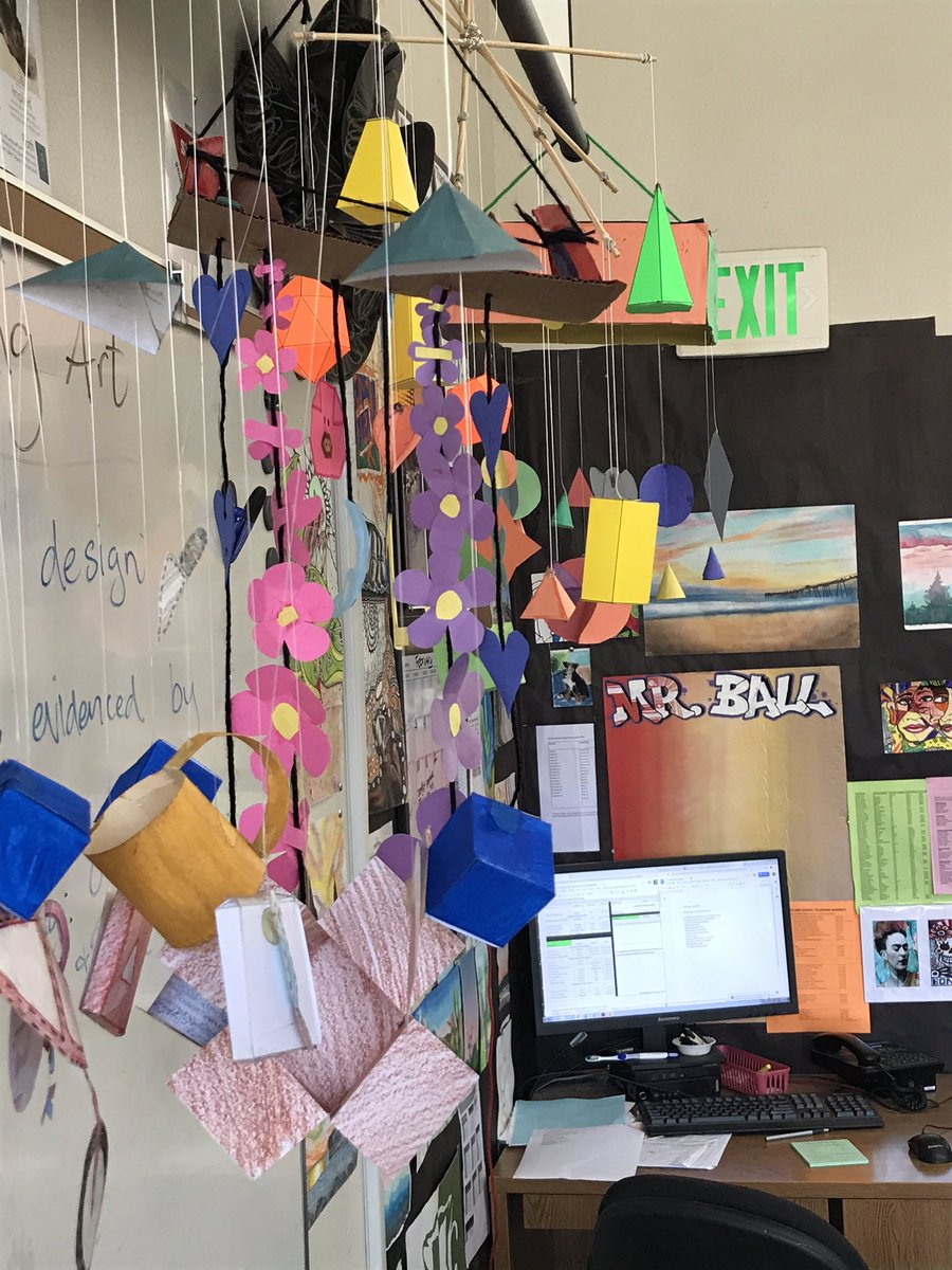 """""""Why do we make art?"""" MVH teacher Mr Ball leads students to design and assemble mobiles"""