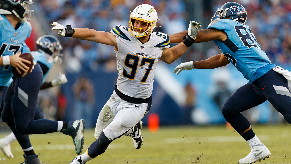 .@jbbigbear got AFTER IT in 2019: ⚡️ @Chargers-high 11.5 sacks ⚡️ 18 TFL and 31 QB hits ⚡️ Second Pro Bowl selection