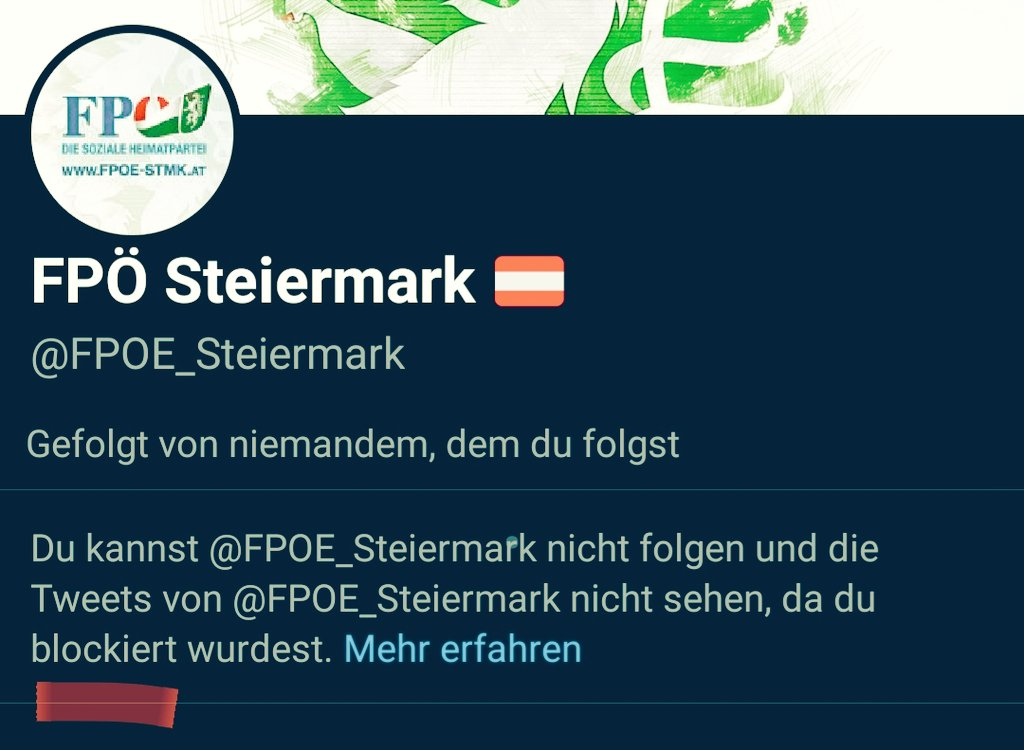 No comment...  #blocked by #FPOE #Steiermark pic.twitter.com/w1cUyRci7u