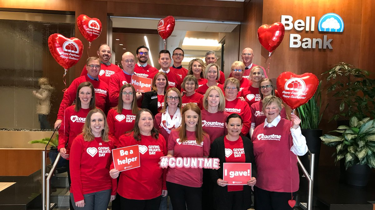 .@GivingHeartsDay was a major success! Our #PayItForward totaled $122,603! Thanks to all of our great Bell Bank team members that participated in #GivingHeartsDay through the Pay It Forward program giving to 193 organizations. 💙💙#bellgiving #bellculture #bellfamily