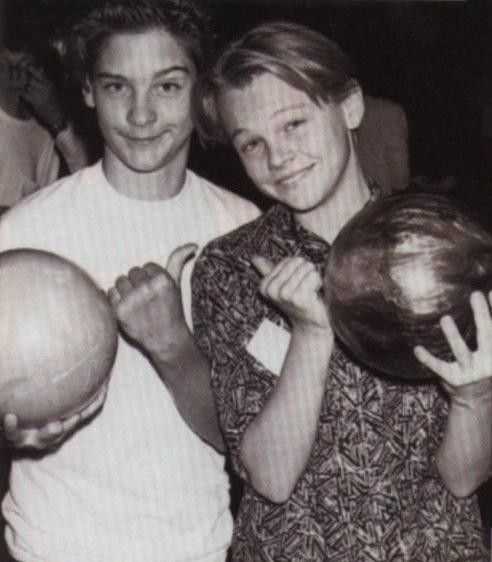 Toby Maguire and Leonardo DiCaprio, friends before they were famous, 1989. <br>http://pic.twitter.com/dOs3iPmu6p