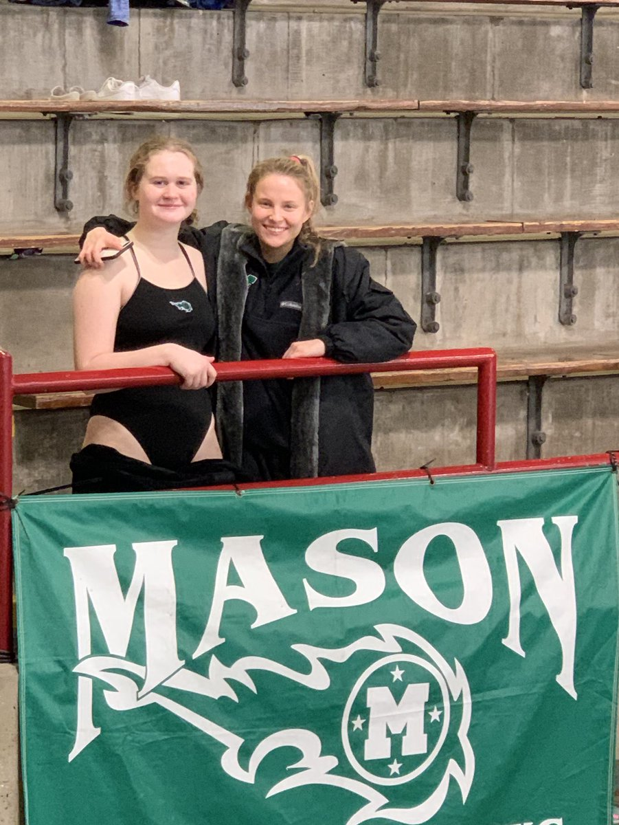 Congratulations to our state divers Langley & Karina! Langley finished 9th - Karina 21st! #masonproud