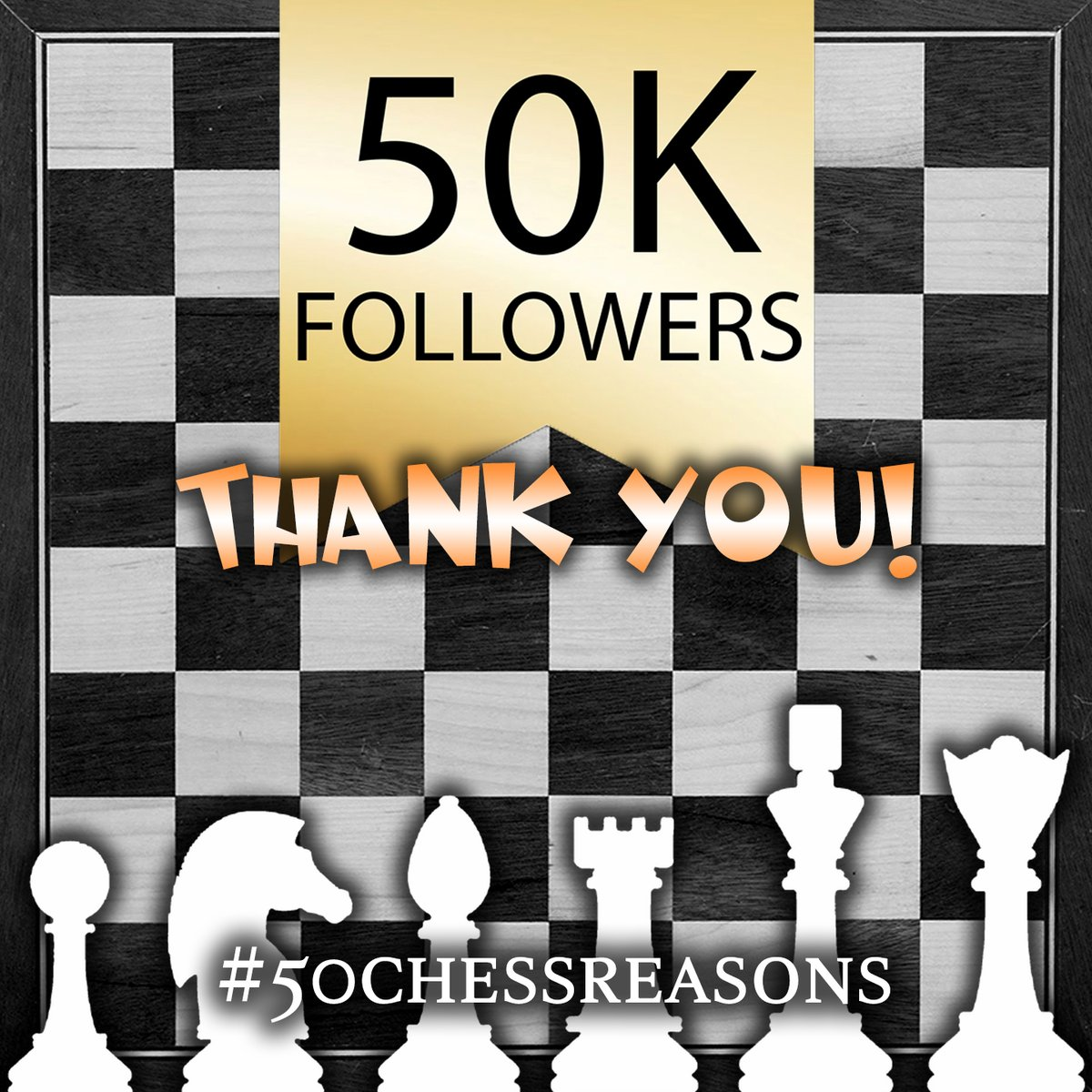 test Twitter Media - ❤ We just hit 50.000 followers on our Instagram account: https://t.co/VnhqPgIhVh  To celebrate this special occasion, we want you all to help us collect 50 reasons to play/follow/enjoy chess. Or better 5⃣0⃣0⃣0⃣0⃣!  #50chessreasons #chess #Instagram https://t.co/UYbrEp7MeJ