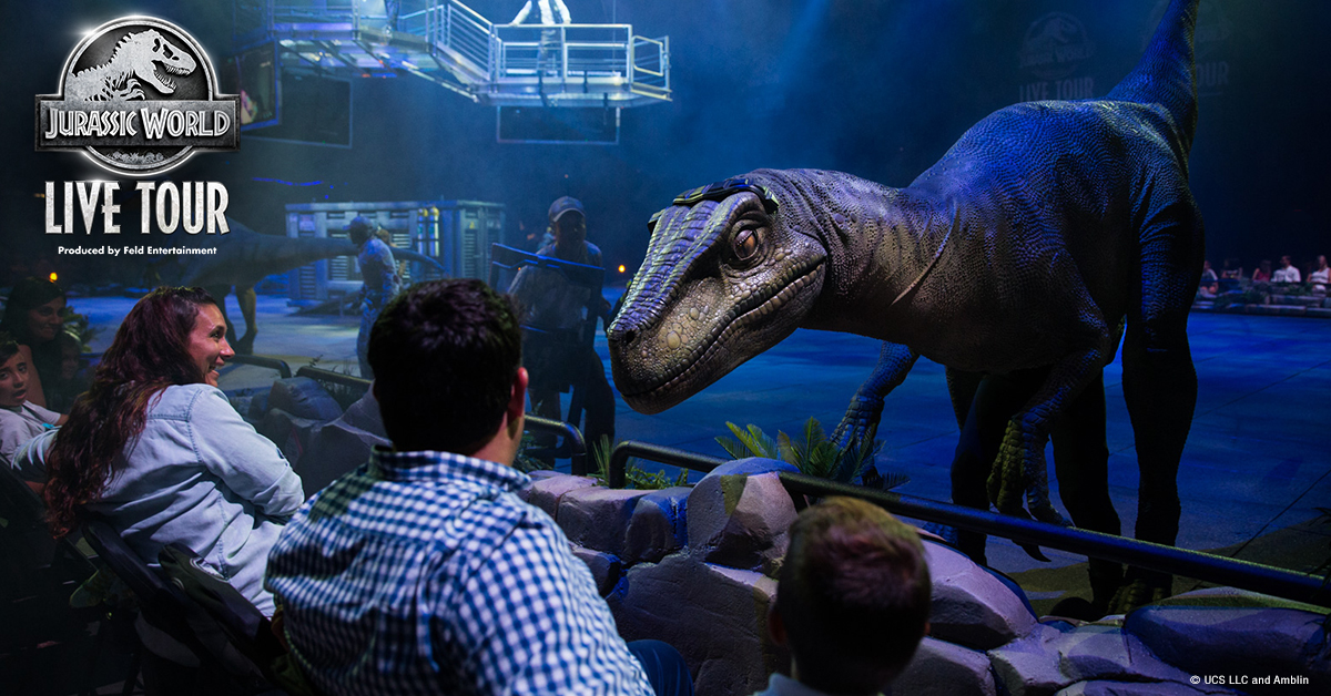 See Blue the Raptor, T. Rex and more iconic Jurassic World dinosaurs come to life at #PruCenter Feb 27 - March 1!   #JurassicWorldPru |