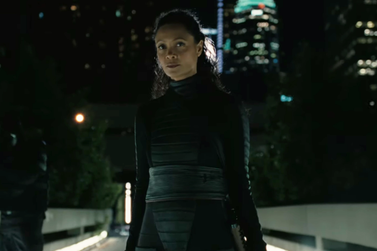 In the new trailer, Westworld hints at what happens after the androids flee the anachronistic theme park and live among the humans in the near-future rol.st/32d6UYp