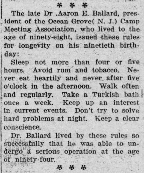 Tips for longevity (1920) #ChronAm http://ow.ly/zhlL50yamiO #Wisconsin #WisconsinNews #WisconsinHistorypic.twitter.com/SujpvrZ05n