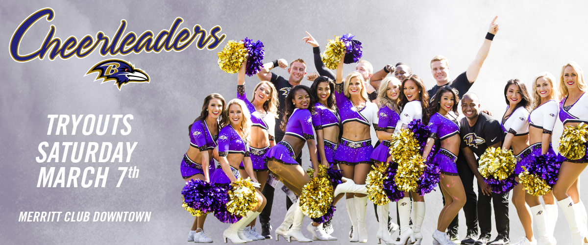 Interested in becoming a Baltimore Ravens cheerleader? Tryouts are coming up! Info: rvns.co/aa0