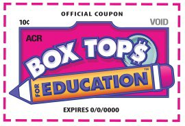 Please send in all box tops by February 26th. Thank you.