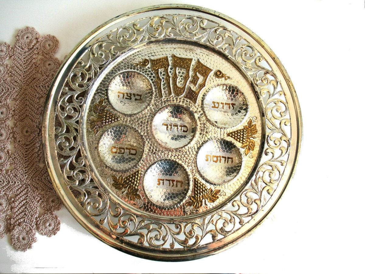 Silver Passover Seder Plate,  Large Hebrew Plate, Jewish Holiday, #Passover Tray, Old Pesach Plate- #Haggada dish https://t.co/gK2MerOBwF #silver #gold #metalsederplate #pesachplate #passovertray #haggadahdish #jewishgift #vintage #judaica #jewishHolidays https://t.co/SbjycC16Xp