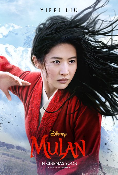 New Character Posters for #Mulan has been released!pic.twitter.com/PZNTSxpZ1Z