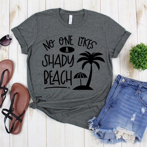 Beach Shirt - No One Likes A Shady Beach Tee #clothing #shirt https://etsy.me/2EA5iNA  #vacationshirt #personalizedshirt #cruiseshirtpic.twitter.com/oFiOeKLs4R