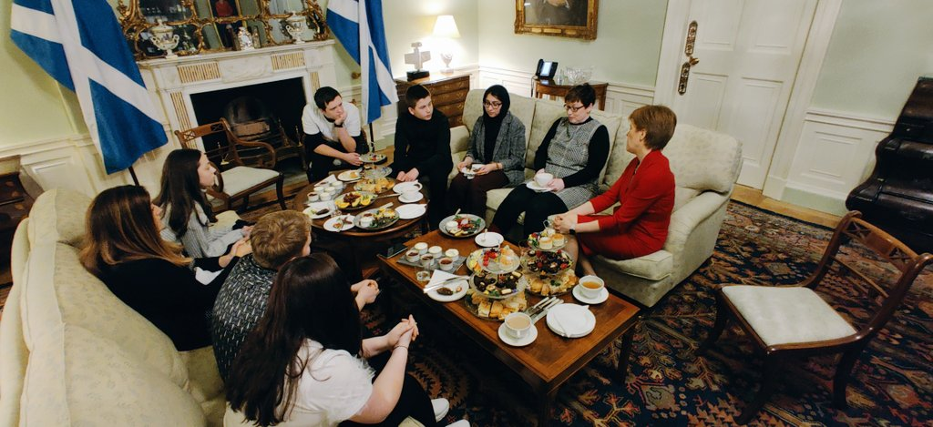 Weve had a brilliant time at Bute House hearing so many stories from young carers about their experiences and hopes for the future⭐ For more information on #YSCarers visit young.scot/youngcarers