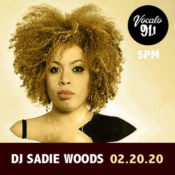 @sadiewoods today on #Vocalo 91.1fm (5-6pm CST) streaming:  http:// Vocalo.org/player     hosted by JDLP 02.20.20 #ChiSoundsLike <br>http://pic.twitter.com/xkA8C2WqSp