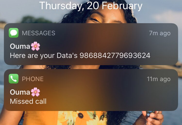 When I wanna stay off social media I don't buy data, so my grandmother wanted to call me using WhatsApp today (She looooves WhatsApp calls hey) and I told her I don't have data (I wanted to use my airtime to call her instead) Then she bought me a data bundle.  <br>http://pic.twitter.com/AixnPYMgtd