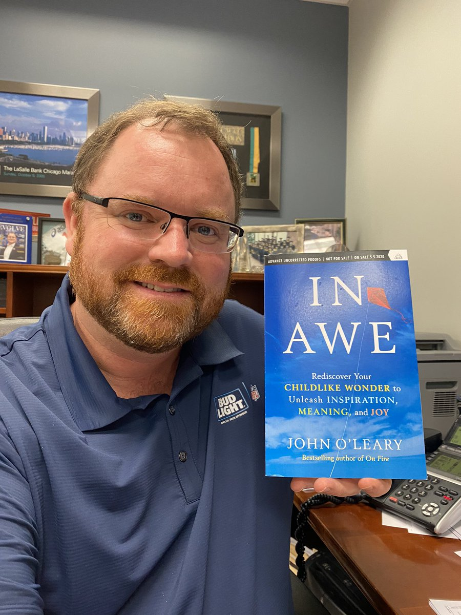Just got my Advance Copy of #InAwe by my best friend John O'Leary.   @JOLearyInspires     I look forward to reading it.  The book comes out May 5th.