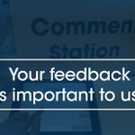 Image for the Tweet beginning: Your feedback is important to