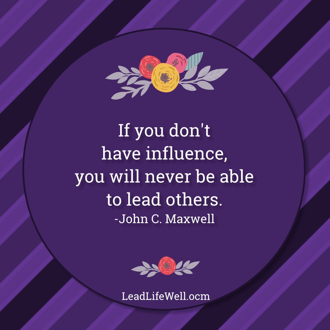 Influence is powerful! What about someone makes that possible for you? #leadership #influence pic.twitter.com/PR655JpsLD