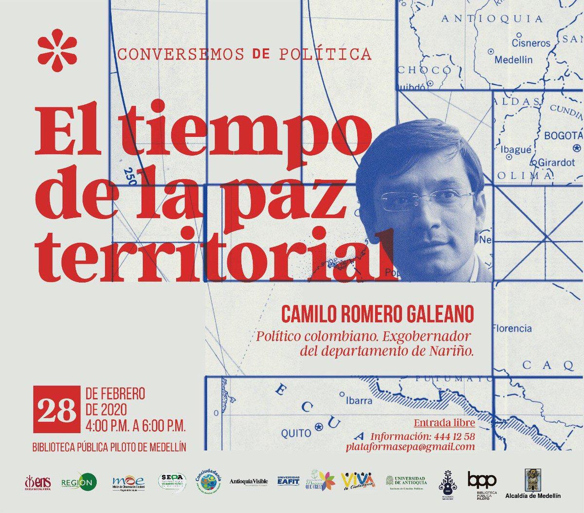 Gracias de verdad a quienes nos invitan a todos los rincones de Colombia.Estaremos en Antioquia en múltiples charlas, aquí les va la invitación a cuatro de ellas, entre el 27 y 29 de febrero. Allá nos vemos!