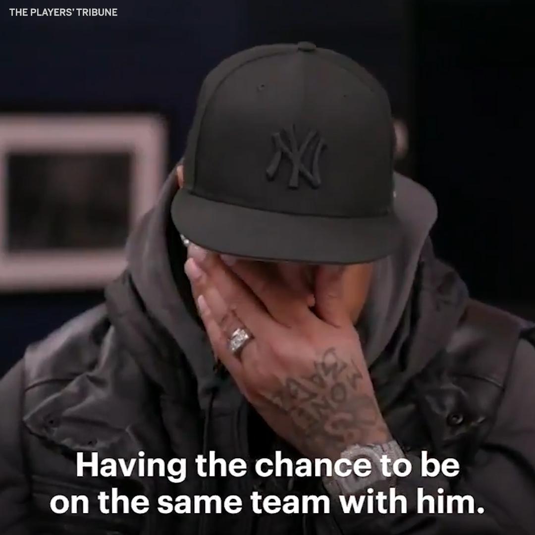Image for the Tweet beginning: Allen Iverson got emotional when