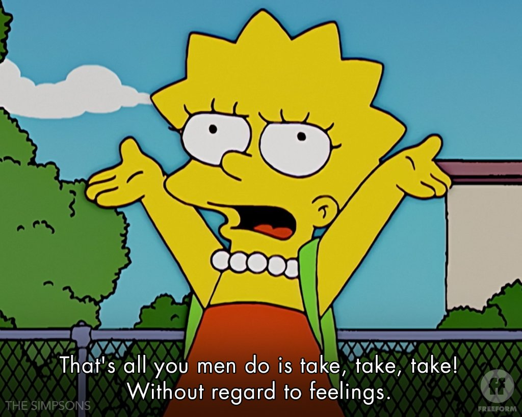 Go off, Lisa ____ Lisa Simpson spittin' truths on #TheSimpsons, weekdays at 4|3c on Freeform