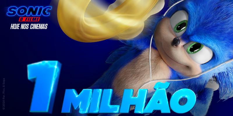 1 MILHÃO DE OURIÇOS! #SonicOFilme bateu a marca de um milhão de ingressos vendidos no Brasil e nosso velocista só tem uma coisa a dizer: partiu cinema? http://bit.ly/SonicTTpic.twitter.com/yzlHyritGG