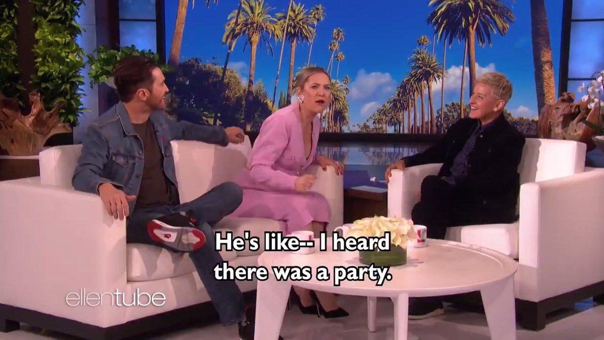 """Kate Hudson and her brother @theOliverHudson had their party crashed, """"Mission Impossible"""" style."""