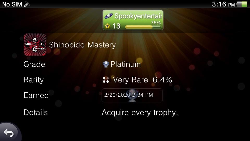 Platinum number 20 #vitaisland shinobido 2 <br>http://pic.twitter.com/HFDqOXYDrq