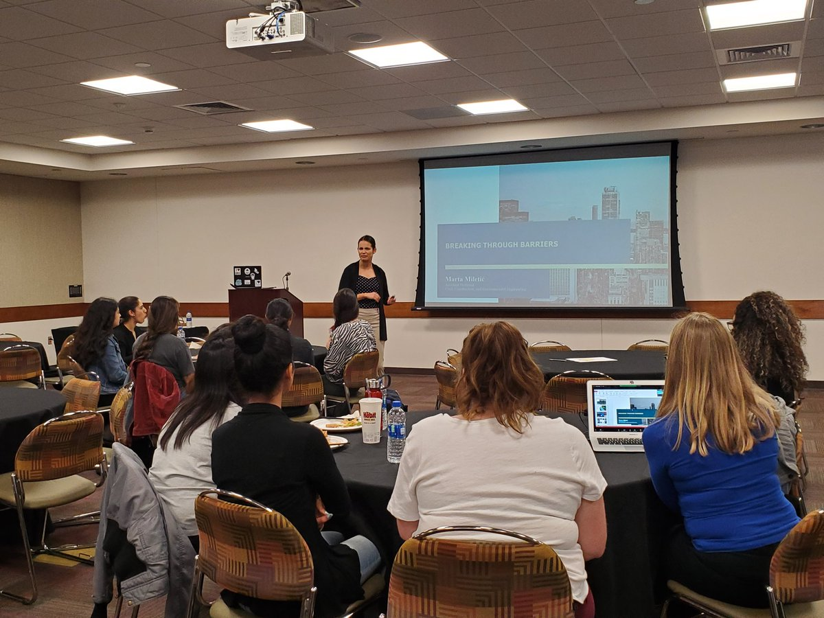 One of the best way to celebrate #EngineeringWeek2020 is hosting our 2nd @SDSU #WomeninEngineering chat, featuring Dr. Marta Miletic from our Civil, Construction, Environmental Engineering department! #WEChat #WomenInSTEM #STEMRoleModel #RoleModelpic.twitter.com/aOEX1hy5MC