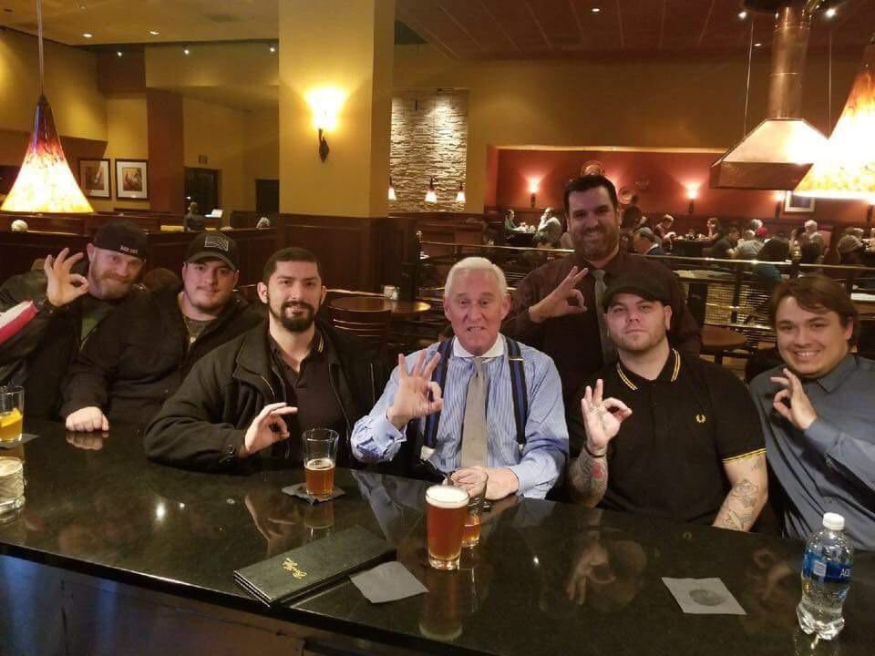 Wait, this Roger Stone? The guy flashing a White Nationalist hand sign with a group of Proud Boys? That is who we are supposed to rally around a Presidential pardon for? No thanks.