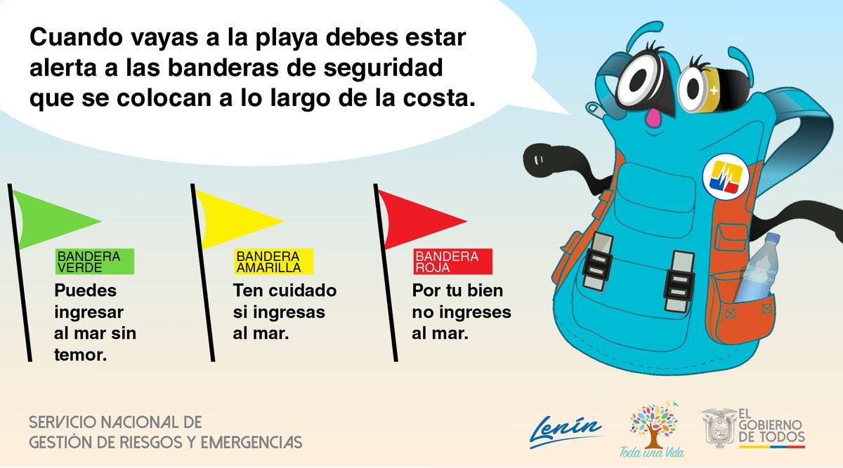 ο χρήστης Riesgos Ecuador στο Twitter Conoces El Significado Del Color De Las Banderas Que Están Ubicadas En Las Playas De Ecuador Nuestra Amiga Míalamochila Te Lo Explica Ecuadorprevenido Https T Co Of3mgybsiu
