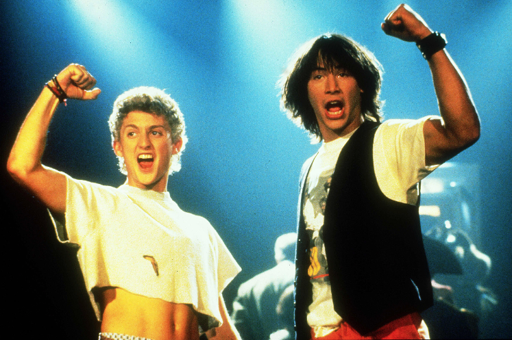 Alex Winter breaks down that lost Bill & Ted dance sequence 30 years later. Get ready for an excellent adventure that includes Stevie Nicks, battling jocks and many most epic dance moves. Party on, dudes! rol.st/2vQlU2i