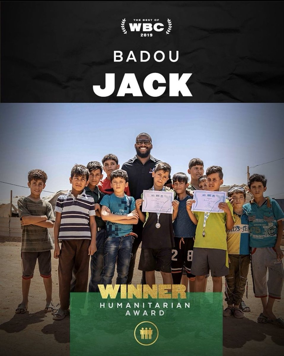 test Twitter Media - Major congratulations are in order for two-time champion @BadouJack 👏🏽who was recognized by the @WBCBoxing with a Humanitarian Award 🏆 for his efforts in giving back. https://t.co/rjCthrDKna