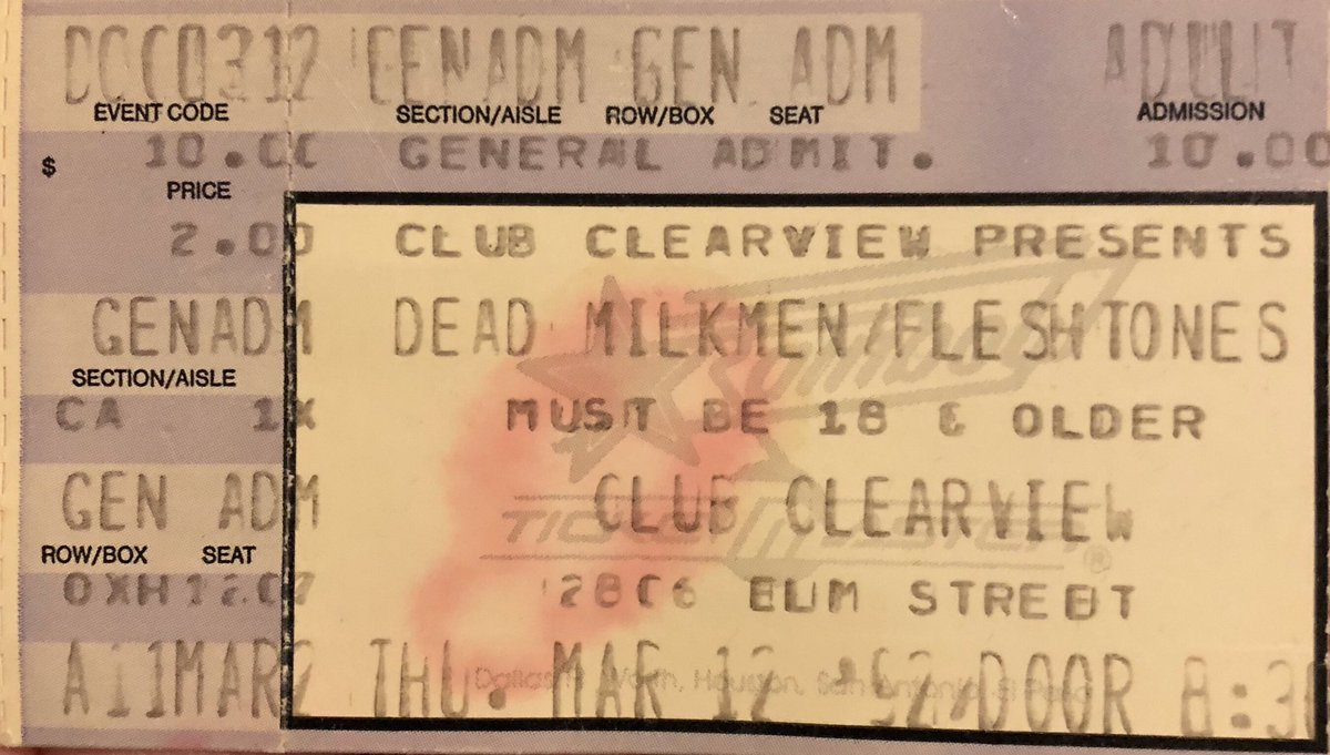 Stumbled upon this last night. In addition to @deadmilkmen and Fleshtones, Ween and Shadowy Men on a Shadowy Planet were on other stages... (All for ten friggin' bucks!) pic.twitter.com/pzb4djvbox