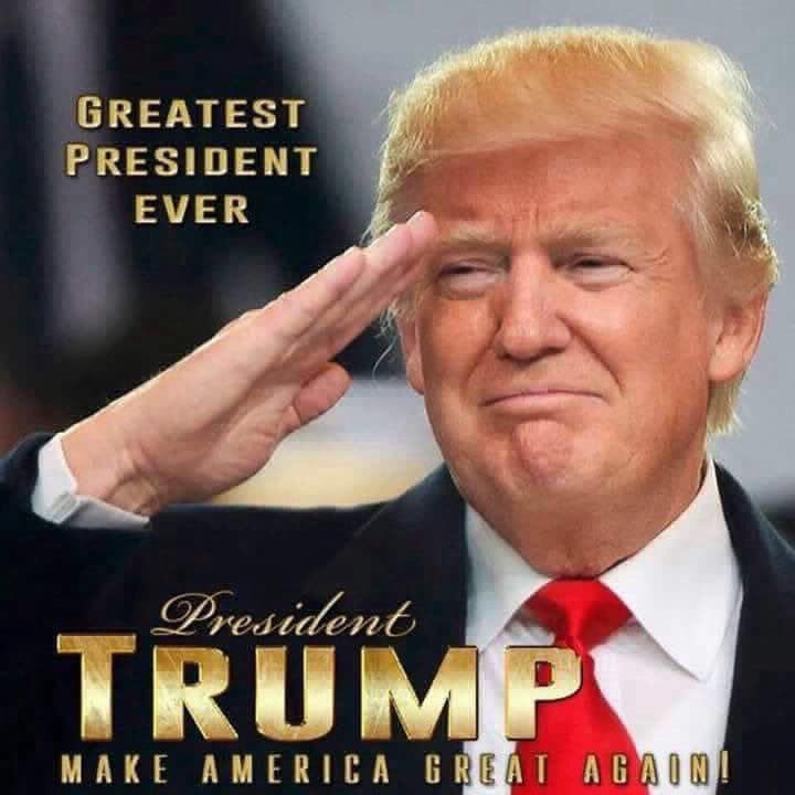 Greatest President in the history of the United States #TRUMP2020   #TheTrumpDynasty #TrumpTheEstablishment  #MAGACOUNTRY #KeepAmericaGreat #DrainTheSwamp #LovedByRealAmerica #HatedByFools #DumpTheDemocrats #WalkAwayDems  Thank you Mr President for: Trade deals Judges pic.twitter.com/FnNu6384vw