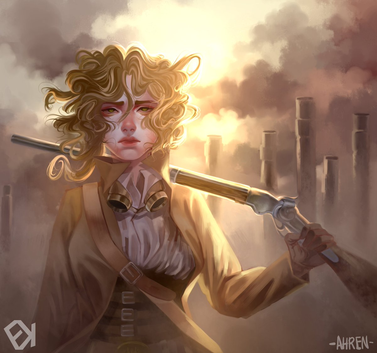 #Artwork Awesome of the Day: #Steampunk ⚙️ #Fanart #Illustration 🖼️ By Briar Wilkes From @cmpriest's #Boneshaker #ScienceFiction #Novel via @EvokStudios #SamaArt