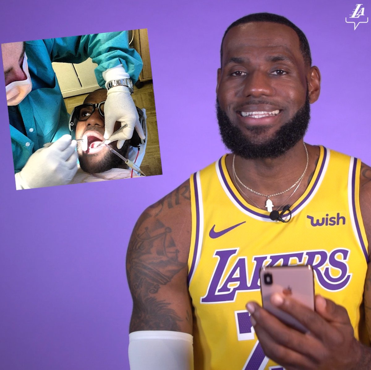 Replying to @Lakers:  *** 😅😅 @KingJames and @AntDavis23 dig into the archives to explain their long-lost IG photos.  #LosAngeles #LosAngelesLakers #Lakers #LeBronJames #StriveForGreatness #NBA #NBAAllStar #TeamLeBron