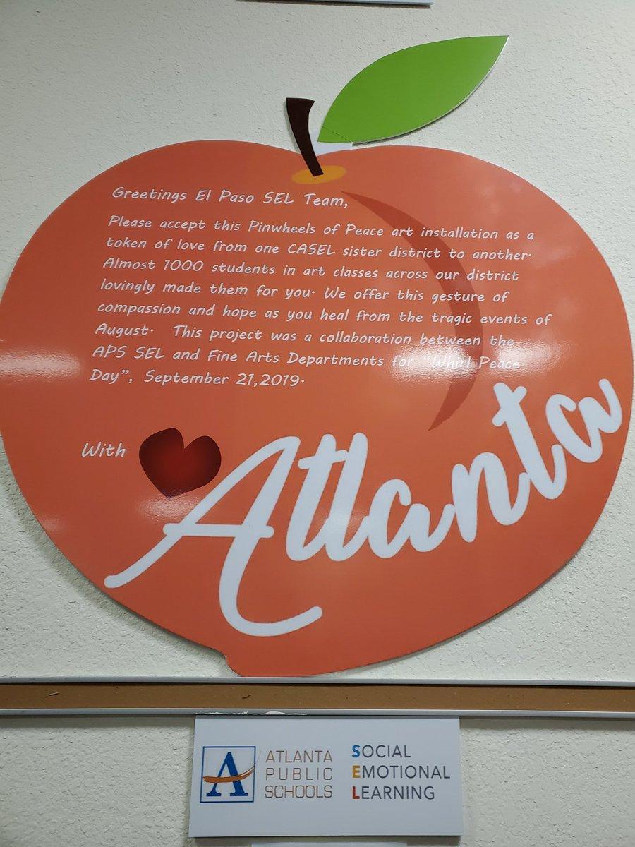 Heartfelt thanks to the Atlanta Public Schools for the beautiful Pinwheels for Peace art installation! ❤🙌 #elpasostrong @APSupdates @sara_womack @SEL_APS #apsarts! #WeLeadTX @ELPASO_ISD