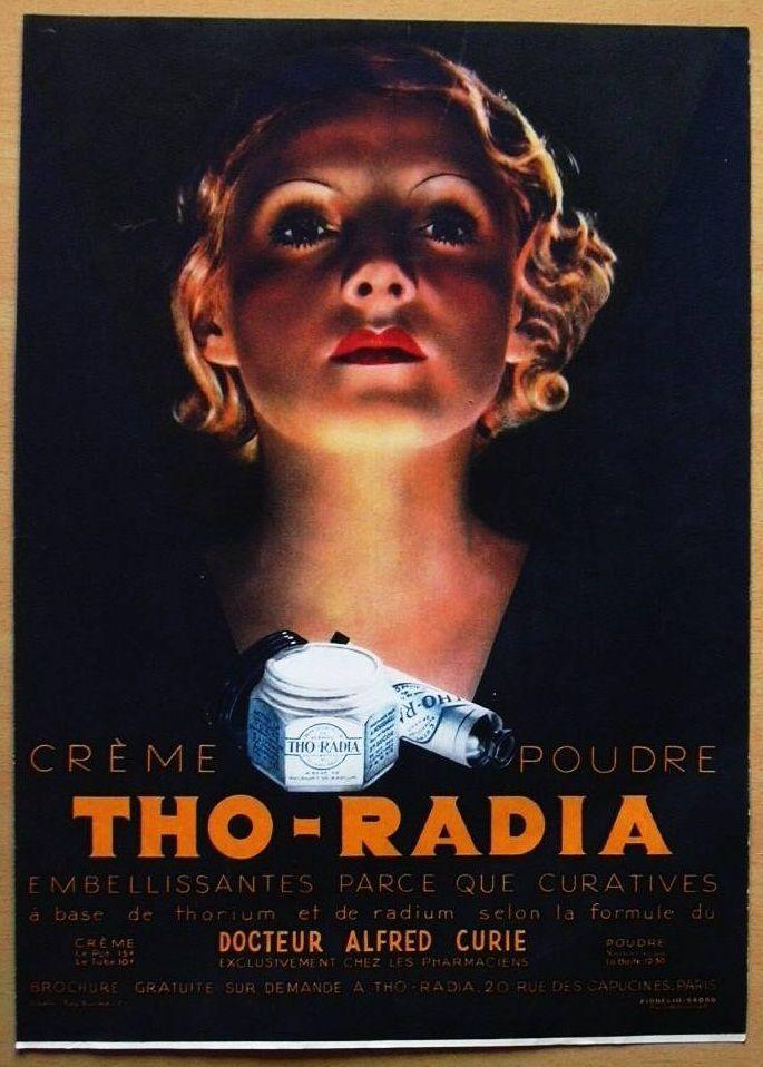 Tho-Radia radioactive skin cream (1933) #backintheday #VintageAdspic.twitter.com/UA0aZebKnX