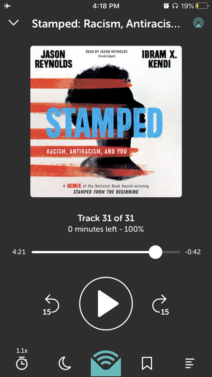 This is the most important & excellent book I've ever read for youth by the brilliant minds of @JasonReynolds83 and @DrIbram EDUCATORS: listen to the audio for FREE (big thank u, @librofm)& then purchase it/put it in front of young people, adults, ur family, EVERYONE. March 10.
