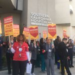 Image for the Tweet beginning: Union #nurses at Southern California