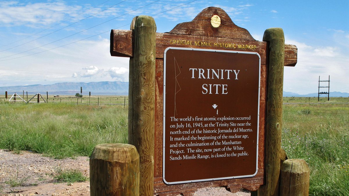 """Nick Hinton on Twitter: """"The first nuclear bomb was tested on the 33rd  parallel in New Mexico at a place now known as the Trinity Site. But if  that's not strange enough,"""