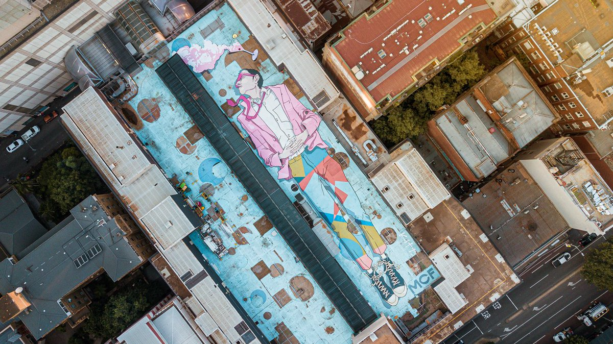 test Twitter Media - A giant rooftop mural has been created in Melbourne by urban street artist, Kitt Bennett as a tribute to the Melbourne Cocktail Festival which kicks off next week. https://t.co/xbJGvfn781