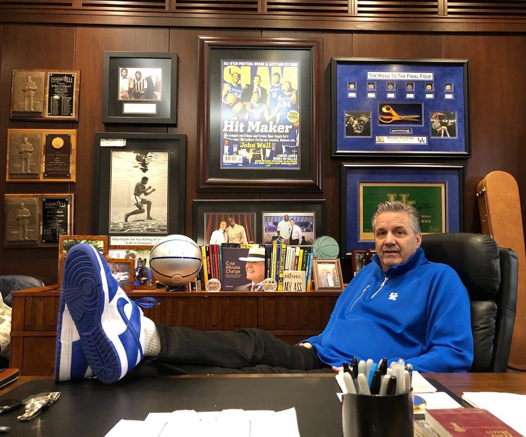 Coach Cal in the Kentucky Dunks 👀  📸: @ONENESS https://t.co/80SQrDI3ch